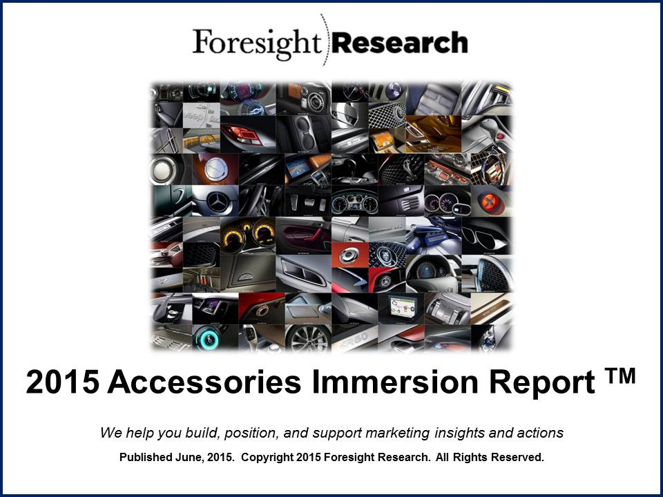 2015 Accessories Immersion Report Cover