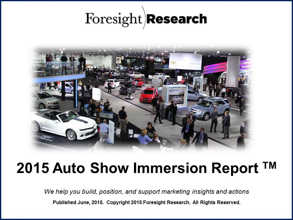 2015 Auto Show Immersion Report Cover