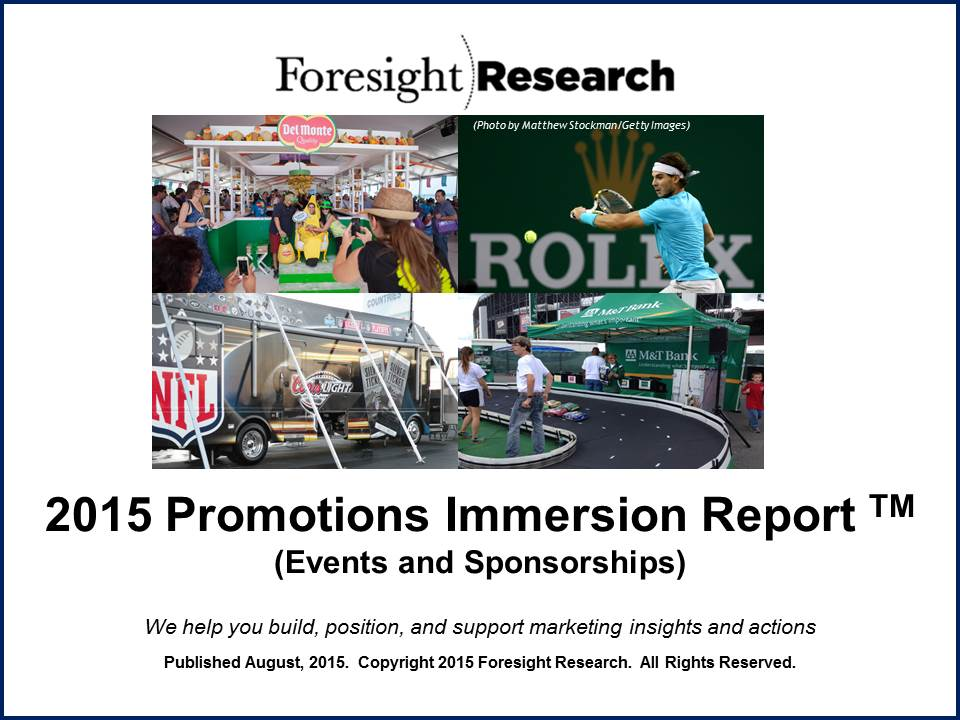 2015 Promotions Immersion Report Cover