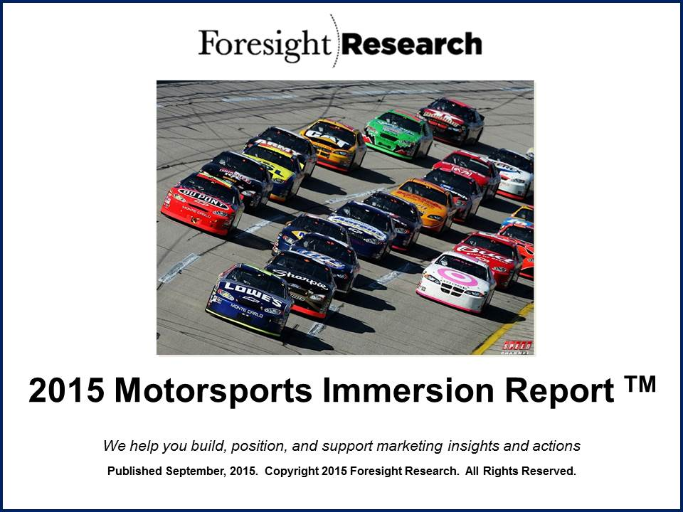2015 Motorsports Immersion Report Cover