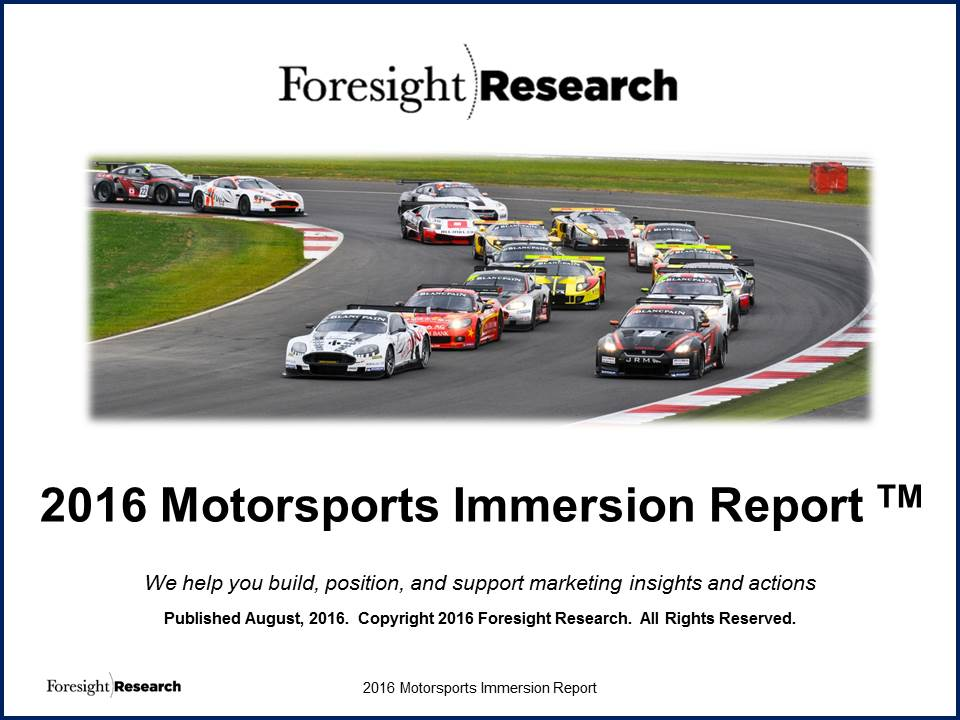 2016 Motorsports Immersion Report Cover